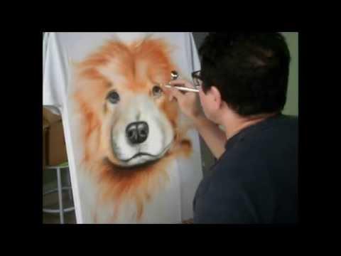 Pintura em camiseta com Aerógrafo - Por Denis