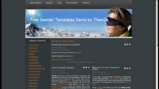 'Ski Club' Free Joomla 1.5.x Template - How to Edit CSS (Video Tutorial) view on youtube.com tube online.