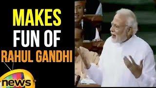 PM Modi Makes Fun Of Rahul Gandhi | Parliament Monsoon Sessions | Mango News - MANGONEWS