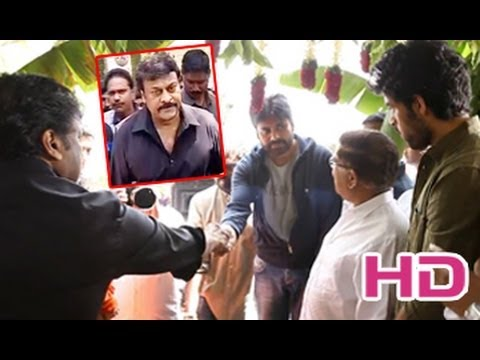 Chiranjeevi & Pawan Kalyan at Nagababu's Son Varun Tej Movie Launch