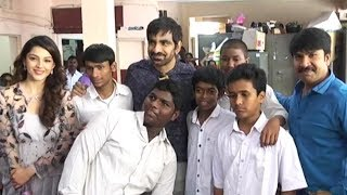 Raja The Great Movie Team Visits Visually Challenged Kids @ Devnar School | TFPC - TFPC