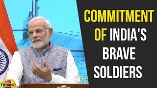 Modi Commended the courage and commitment of India's Brave Soldiers at SSBN | Modi Live | Mango News - MANGONEWS