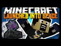 Minecraft: LAUNCHED 100,000 BLOCKS UP! (Ender Crystal Cannon)