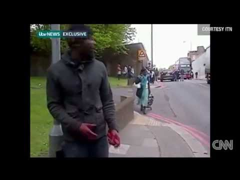 Slaughter caught on tape!!! Killing a soldier in London
