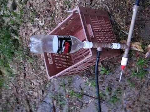Bomba Carneiro com  garafa pet e pouco recurso