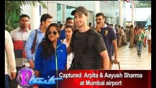 Arpita Khan and Aayush Sharma's arrival at Mumbai Airport | Exclusive