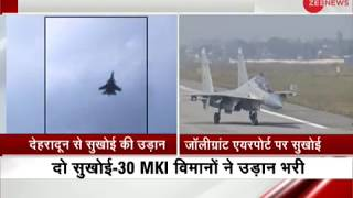 Sukhoi aircraft takes flight from Jolly Grant Airport, Dehradun - ZEENEWS