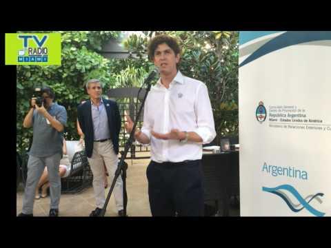 TVRadioMiami- Martin Lousteau, Emb.Argentino en EU visita Miami en ocasión del Dia de la Bandera