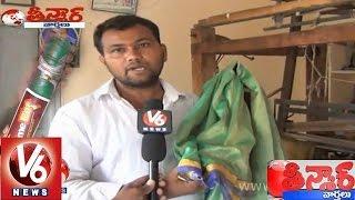 Sircilla handloom worker made thin and low weight saree - Teenmaar News - V6NEWSTELUGU