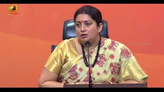 Failed Dynast Spoke About Failed Journey: Smriti Irani on Rahul Gandhi's Speech In US | Mango News - MANGONEWS