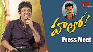 Akkineni Nagarjuna Press Meet about Hello Movie | Akhil Akkineni, Kalyani Priyadarshan - TELUGUONE