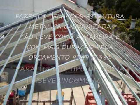 TRABALHOS EM TELHADOS.telhados estrutura metalica galvanizada