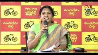 T TDP Leader Shobha Rani Fires on KCR over Comments CM Chandrababu | CVR News - CVRNEWSOFFICIAL