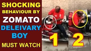 Swiggy and Zomato users must watch this video   Delivery boy eating food - MUSTHMASALA