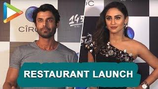 Zaheer Khan, Hardik Pandya, Krystle D'Souza & others at Restaurant Launch - HUNGAMA