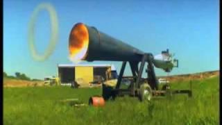空気に渦作ることで衝撃を与えるミサイル