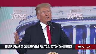President Donald Trump delivers remarks at CPAC conference   ABC News - ABCNEWS
