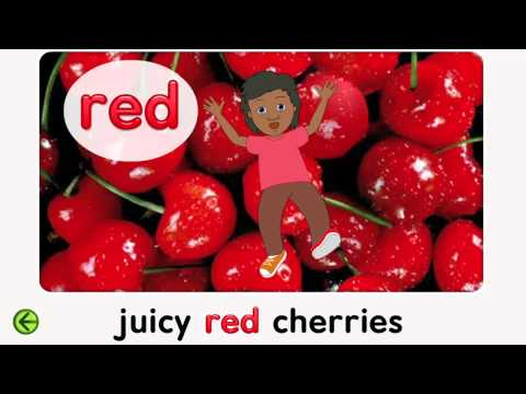 Red, an Interactive activity for Preschool.