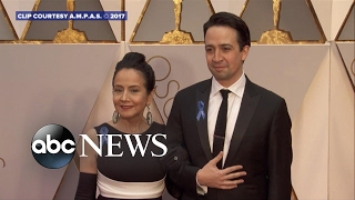 Oscars 2017: Nominees wear blue ribbons in support of ACLU - ABCNEWS