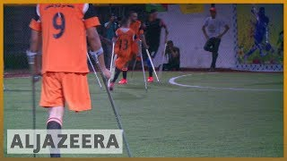 🇵🇸 Playing football brings hope to amputees in Gaza | Al Jazeera English - ALJAZEERAENGLISH