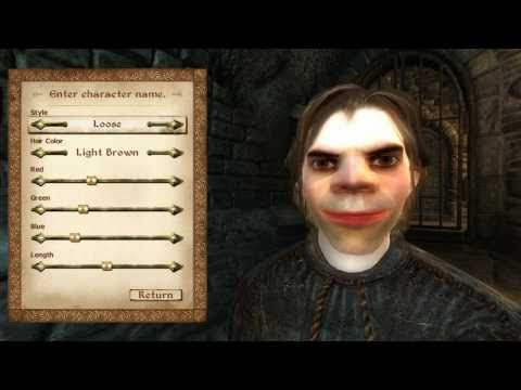 The elder scrolls 4: oblivion: создание лица