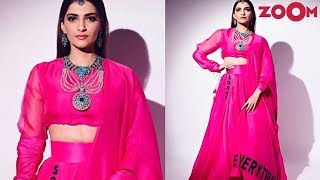 Sonam Kapoor's unique fashion statement at Isha Ambani wedding | Bollywood News - ZOOMDEKHO