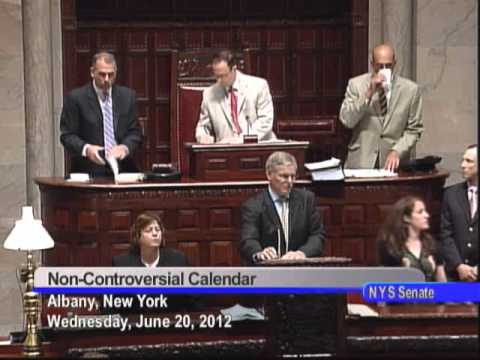 NYS Senate Session - June 20, 2012