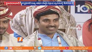 iNews Anchor Satish Receives Aradhana Best News Reader Award 2018 | Hyderabad | iNews - INEWS