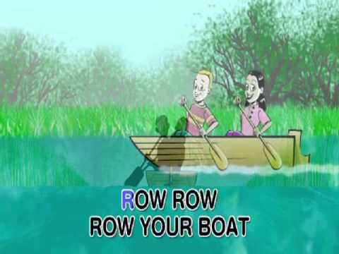 Row Row Row Your Boat - Nursery Rhyme - With Text