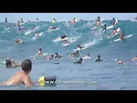 SURFING HAWAII BIG PIPELINE FIRST SWELL ハワイ パイプライン