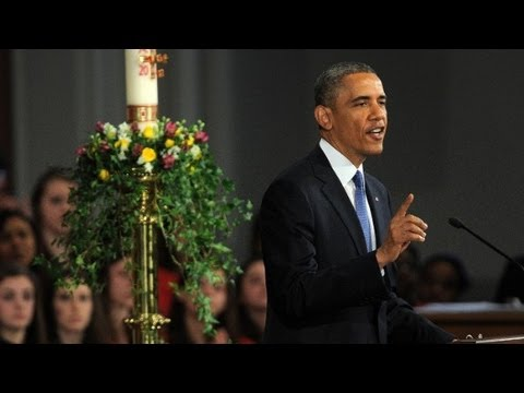 Raw video: Obama's speech for victims of Boston bombing