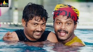 Prema Katha Chitram | Saptagiri and Praveen Comedy in Swimming Pool | Latest Telugu Comedy Scenes - SRIBALAJIMOVIES
