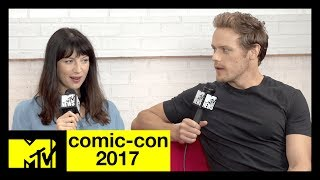 'Outlander's Sam Heughan & Caitriona Balfe on Season 3 | Comic-Con 2017 | MTV - MTV