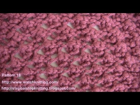 (Raspberry stitch) - Lace Knitting Patterns- Free Knitting Tutorials - Watch Knitting - pattern 18