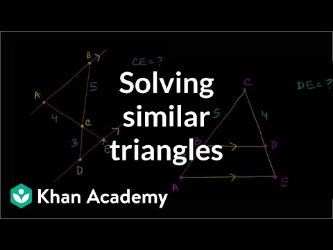Similarity Example Problems
