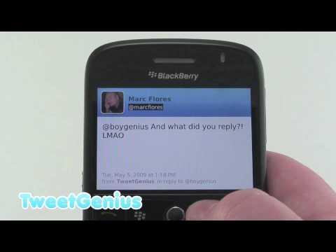 TweetGenius para BlackBerry