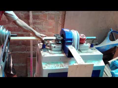 Maquina para hacer palos redondos