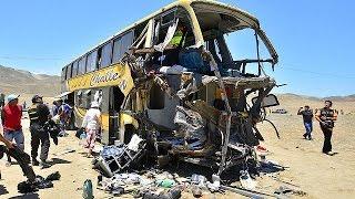 أكثر من 100 قتيل ومصاب جراء حادث سير في البيرو