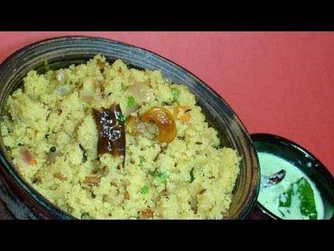 How to Make Suji Upma - Indian Cooking Video