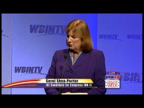 WBIN Carol Shea-Porter Frank Guinta Debate in the 1st NH Congressional District
