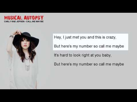 Musical Autopsy: Carly Rae Jepsen - Call Me Maybe