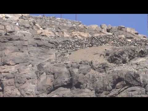 View of jabl-e-noor of Ghar-e-Hira mountain and its way Makkah 7 April 2013 in Saudi Arabia