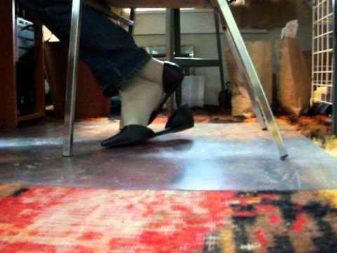 under chair action my Fioni d'Orsay ballet flats 2Mar14