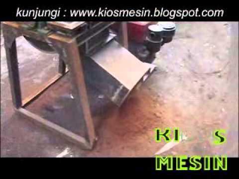 UJI COBA mesin penggiling genteng atau penghancur genteng