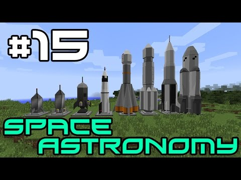 Minecraft Space Astronomy - Flying Progress! #15