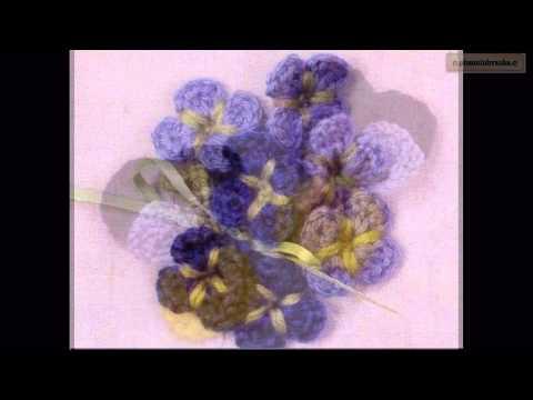 Các mẫu hoa móc bằng len