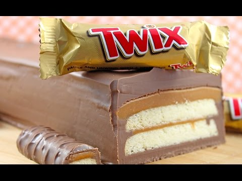 GIANT TWIX Bar Slice! 3 Ingredient No Bake Baking by My Cupcake Addiction