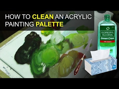 how to clean the acrylic painting palette