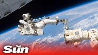 ISS Spacewalk LIVE | Nasa astronauts replace solar array batteries - THESUNNEWSPAPER