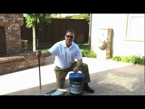 How to apply a water-based wet-look paver sealer